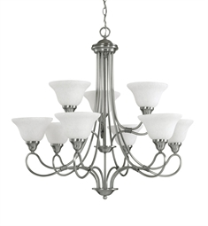 Kichler Stafford Collection Chandelier 9 Light in Antique Pewter
