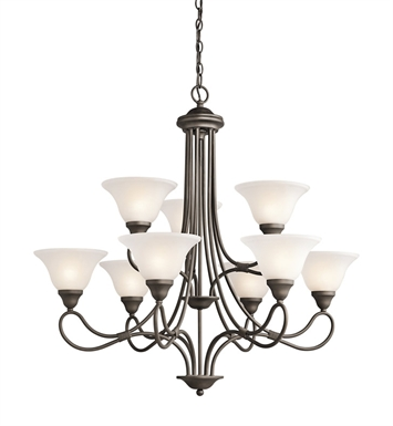Kichler 2558OZ Stafford Collection Chandelier 9 Light in Olde Bronze