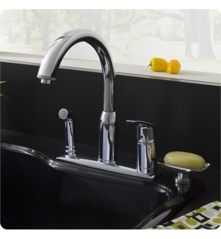 American Standard 4101301 Arch Single Handle High Arc Kitchen Faucet With Side Spray