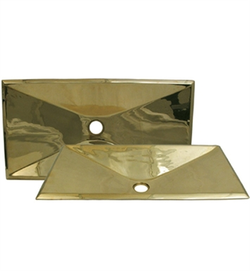 Whitehaus Rectangular Above Mount Basin from Copperhaus Series With Finish: Polished Brass