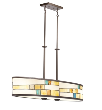 Kichler 66144 Mihaela Collection Chandelier/Oval Pendant 4 Light in Shadow Bronze