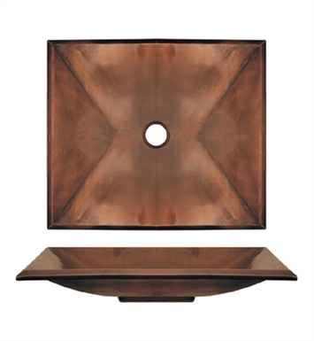 Whitehaus WHLAV1618 Rectangular Above Mount Basin with Polished Brass Finish - Copperhaus Series