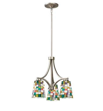 Kichler 66138 Confetti Collection Chandelier 3 Light in Brushed Nickel