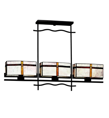 Kichler 65308 Tacoma Collection Chandelier Linear 3 Light in Olde Bronze