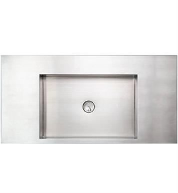 Whitehaus WHNCMB003 Rectangular Above Mount Stainless Steel Bath Sink - Noah's Collection