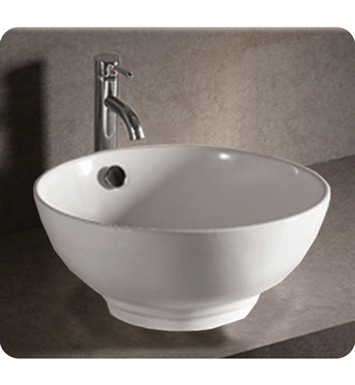 Whitehaus WHKN1051 Round Above Mount Basin with Overflow and Center Drain - Isabella Series