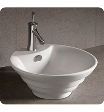Whitehaus WHKN1054 Round Stepped Above Mount Basin with Overflow and Center Drain - Isabella Series