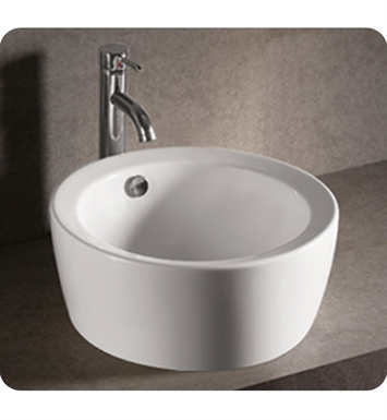 Whitehaus WHKN1055 Round Above Mount Basin with Overflow and Center Drain - Isabella Series
