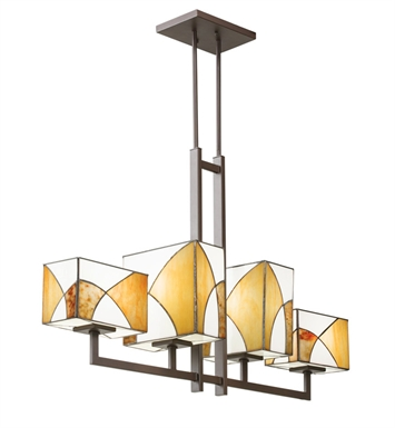Kichler 65373 Elias Collection Chandelier Linear 4 Light in Olde Bronze