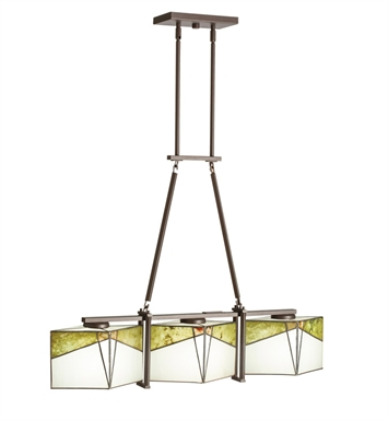 Kichler 65378 Chandelier Linear 3 Light in Olde Bronze