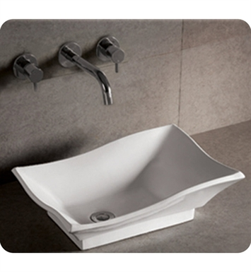 Whitehaus WHKN1078 Rectangular Above Mount Basin with Offset Center Drain - Isabella Series