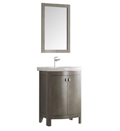"Fresca FVN2301SA-CMB Greenwich 25"" Antique Silver Traditional Bathroom Vanity"