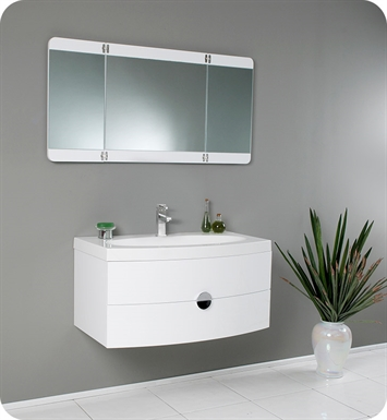 "fresca fvn5092pw energia 36"" white modern bathroom vanity with"
