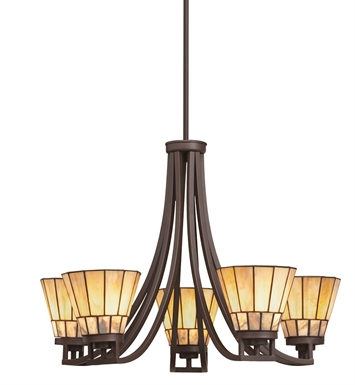 Kichler 66054 Morton Collection Chandelier 5 Light in Olde Bronze