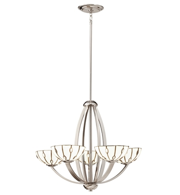 Kichler 66057 Cloudburst Collection Chandelier 5 Light in Polished Nickel