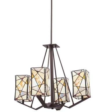 Kichler 66059 Shazam Collection Chandelier 4 Light in Olde Bronze