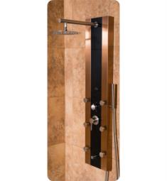 pulse 1049bbn rio shower panel in stainless steel bronze finish w black tempered