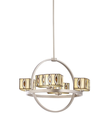 Kichler Pluto Collection Chandelier 4 Light in Brushed Nickel