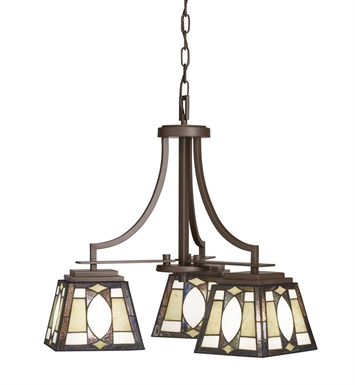 Kichler 66121 Denman Collection Chandelier 3 Light in Olde Bronze