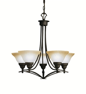 Kichler 1744DBK Pomeroy Collection Chandelier 5 Light in Distressed Black
