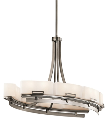 Kichler 42431AP Chandelier Linear 16 Light in Antique Pewter
