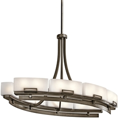 Kichler Chandelier Linear 16 Light in Shadow Bronze