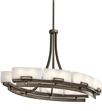 Kichler 42431SWZ Chandelier Linear 16 Light in Shadow Bronze
