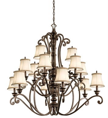 Kichler 43281TRZ Chandelier 15 Light in Terrene Bronze