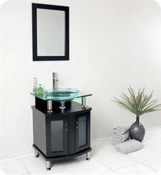 "Fresca FVN3312ES Contento 24"" Modern Bathroom Vanity with Mirror in Espresso"