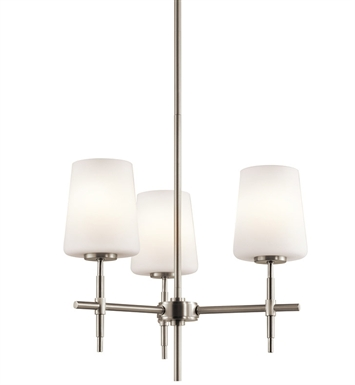 Kichler Arvella Collection Semi Flush/Chandelier 3 Light in Brushed Nickel