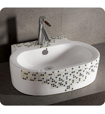 Whitehaus Decorative Oval Wall Mount Basin with Overflow and Center Drain - Isabella Series