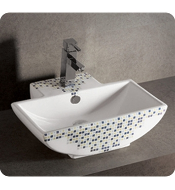 Whitehaus WHKN4047-03 Decorative Rectangular Wall Mount Basin with Overflow and Center Drain - Isabella Series