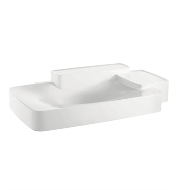 Hansgrohe 19944000 Axor Bouroullec Wall Mounted Washbasin with Two Shelves, Large