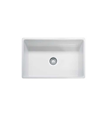 "Franke FHK710-30WH Farm House 30 1/8"" Single Basin Undermount Stainless Steel Kitchen Sink With Finish: White"