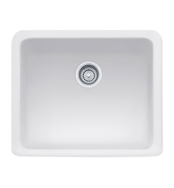 "Franke MHK110-20BT Manor House 19 1/2"" Single Basin Apron Front Fireclay Kitchen Sink With Finish: Biscuit"