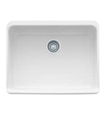 "Franke MHK110-24BT Manor House 23 5/8"" Single Basin Apron Front Fireclay Kitchen Sink With Finish: Biscuit"