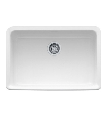 "Franke MHK110-28WH Manor House 27 1/8"" Single Basin Apron Front Fireclay Kitchen Sink With Finish: White"