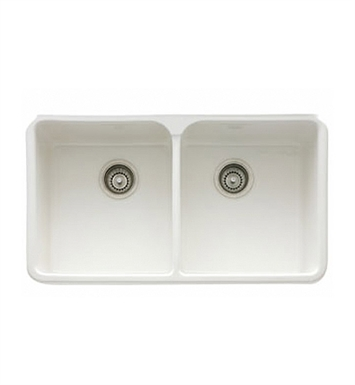 "Franke MHK720-31BT Manor House 31 1/4"" Double Basin Apron Front Fireclay Kitchen Sink With Finish: Biscuit"