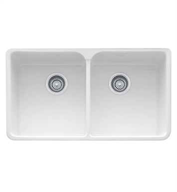 "Franke MHK720-35BT Manor House 35 5/8"" Double Basin Apron Front Fireclay Kitchen Sink With Finish: Biscuit"