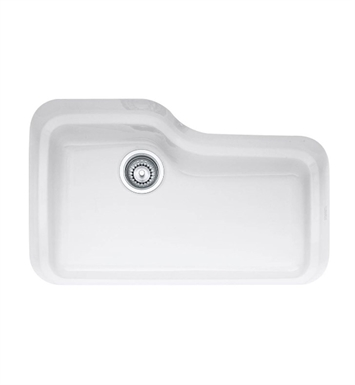 "Franke ORK110WH Orca 29 7/8"" Single Basin Undermount Fireclay Kitchen Sink With Finish: White"