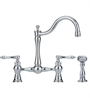 Franke FF7000A Farm House Bridge Kitchen Faucet with Side Spray With Finish: Polished Chrome