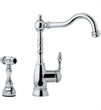 Franke FHF180 Farm House Single Handle Kitchen Faucet with Side Spray With Finish: Satin Nickel