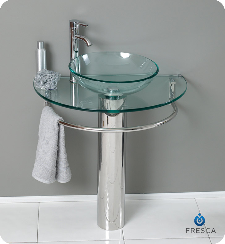 Fresca Fvn1060 Attrazione 30 Quot Modern Glass Bathroom Vanity