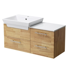 "Fresca FCB6163NW-CWH-V Caro 36"" Natural Wood Modern Bathroom Vanity with Sink"