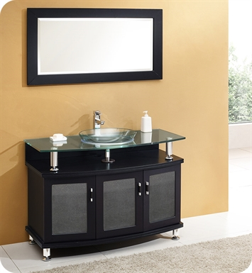 "Fresca FVN3317ES [DISCONTINUED]  Contento 44"" Espresso Modern Bathroom Vanity with Mirror"