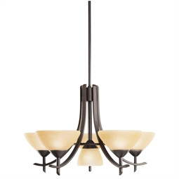 Kichler Olympia Collection Chandelier 5/1 Light in Olde Bronze