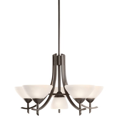 Kichler 1676OZW Olympia Collection Chandelier 5/1 Light in Olde Bronze