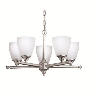 Kichler 1748NI Ansonia Collection Chandelier 5 Light in Brushed Nickel