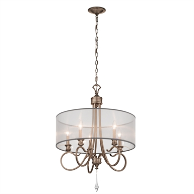 Kichler 43244BRSG Malina Collection Chandelier 5 Light