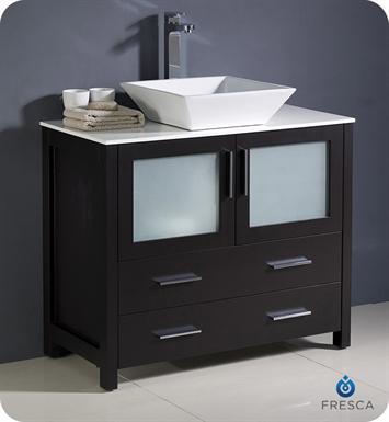 Fresca FCB6236ES CWH V Torino 36 Espresso Modern Bathroom Cabinet